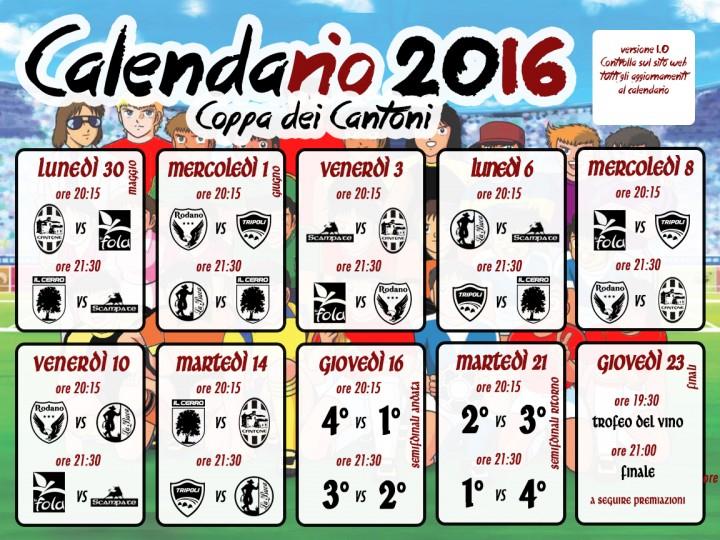 Calendario CDC2016
